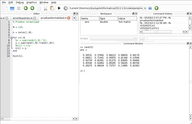 Entorno de programación (similar a MATLAB)
