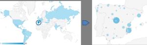Mapa de visitas 2013 a CAChemE.org
